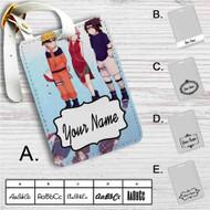 Uzumaki Naruto Sakura Haruno Kakashi Hatake Custom Leather Luggage Tag