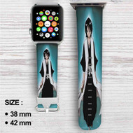 Rukia Kuchiki Bleach Custom Apple Watch Band Leather Strap Wrist Band Replacement 38mm 42mm