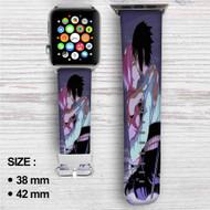 Sakura Haruno Sasuke Uchiha Naruto Shippuden Custom Apple Watch Band Leather Strap Wrist Band Replacement 38mm 42mm