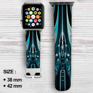 Tron Uprising Custom Apple Watch Band Leather Strap Wrist Band Replacement 38mm 42mm