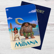 Disney Moana Custom Leather Passport Wallet Case Cover