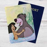 Disney Mowgli and Ballo The Jungle Book Custom Leather Passport Wallet Case Cover