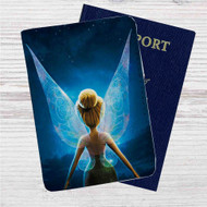 Disney Tinkerbell Custom Leather Passport Wallet Case Cover