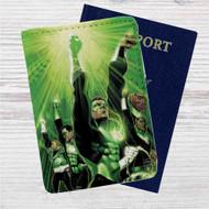 Green Lantern Custom Leather Passport Wallet Case Cover