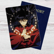 Inuyasha Custom Leather Passport Wallet Case Cover