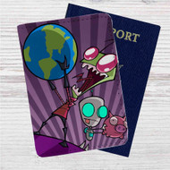 Invader Zim Custom Leather Passport Wallet Case Cover
