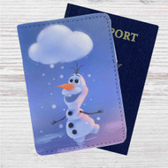 Olaf Disney Frozen Custom Leather Passport Wallet Case Cover