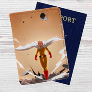 One-Punch Man Saitama Custom Leather Passport Wallet Case Cover