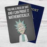 Rick and Morty Quotes Custom Leather Passport Wallet Case Cover