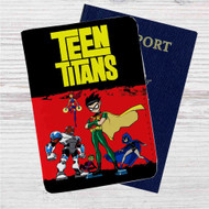 Teen Titans Action Custom Leather Passport Wallet Case Cover
