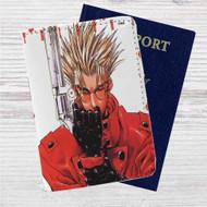 Trigun Custom Leather Passport Wallet Case Cover