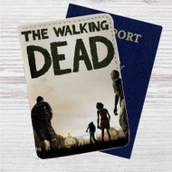 Walking Dead The Game Custom Leather Passport Wallet Case Cover