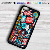 Rick and Morty Collage Quotes iPhone 4/4S 5 S/C/SE 6/6S Plus 7| Samsung Galaxy S4 S5 S6 S7 NOTE 3 4 5| LG G2 G3 G4| MOTOROLA MOTO X X2 NEXUS 6| SONY Z3 Z4 MINI| HTC ONE X M7 M8 M9 M8 MINI CASE
