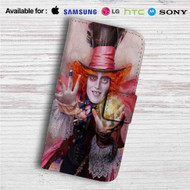 Alice in Wonderland Through the Looking Glass Custom Leather Wallet iPhone 4/4S 5S/C 6/6S Plus 7| Samsung Galaxy S4 S5 S6 S7 Note 3 4 5| LG G2 G3 G4| Motorola Moto X X2 Nexus 6| Sony Z3 Z4 Mini| HTC ONE X M7 M8 M9 Case