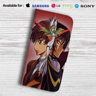 Code Geass Hangyaku no Lelouch Custom Leather Wallet iPhone 4/4S 5S/C 6/6S Plus 7  Samsung Galaxy S4 S5 S6 S7 Note 3 4 5  LG G2 G3 G4  Motorola Moto X X2 Nexus 6  Sony Z3 Z4 Mini  HTC ONE X M7 M8 M9 Case