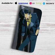 Cowboy Bebop Spike Spiegel Custom Leather Wallet iPhone 4/4S 5S/C 6/6S Plus 7| Samsung Galaxy S4 S5 S6 S7 Note 3 4 5| LG G2 G3 G4| Motorola Moto X X2 Nexus 6| Sony Z3 Z4 Mini| HTC ONE X M7 M8 M9 Case