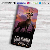 Deer Hunter Custom Leather Wallet iPhone 4/4S 5S/C 6/6S Plus 7| Samsung Galaxy S4 S5 S6 S7 Note 3 4 5| LG G2 G3 G4| Motorola Moto X X2 Nexus 6| Sony Z3 Z4 Mini| HTC ONE X M7 M8 M9 Case