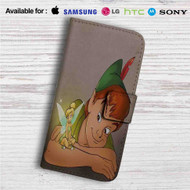 Disney Peter Pan and Tinkerbell Custom Leather Wallet iPhone 4/4S 5S/C 6/6S Plus 7| Samsung Galaxy S4 S5 S6 S7 Note 3 4 5| LG G2 G3 G4| Motorola Moto X X2 Nexus 6| Sony Z3 Z4 Mini| HTC ONE X M7 M8 M9 Case