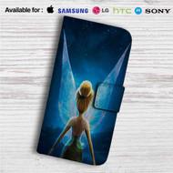Disney Tinkerbell Custom Leather Wallet iPhone 4/4S 5S/C 6/6S Plus 7  Samsung Galaxy S4 S5 S6 S7 Note 3 4 5  LG G2 G3 G4  Motorola Moto X X2 Nexus 6  Sony Z3 Z4 Mini  HTC ONE X M7 M8 M9 Case