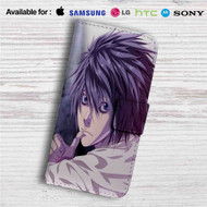L Death Note Custom Leather Wallet iPhone 4/4S 5S/C 6/6S Plus 7| Samsung Galaxy S4 S5 S6 S7 Note 3 4 5| LG G2 G3 G4| Motorola Moto X X2 Nexus 6| Sony Z3 Z4 Mini| HTC ONE X M7 M8 M9 Case