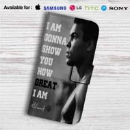Muhammad Ali Quotes Custom Leather Wallet iPhone 4/4S 5S/C 6/6S Plus 7| Samsung Galaxy S4 S5 S6 S7 Note 3 4 5| LG G2 G3 G4| Motorola Moto X X2 Nexus 6| Sony Z3 Z4 Mini| HTC ONE X M7 M8 M9 Case