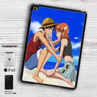 "Monkey D Luffy and Nami One Piece Love iPad 2 3 4 iPad Mini 1 2 3 4 iPad Air 1 2 | Samsung Galaxy Tab 10.1"" Tab 2 7"" Tab 3 7"" Tab 3 8"" Tab 4 7"" Case"