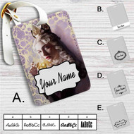 Alice Through the Looking Glass Alice Custom Leather Luggage Tag
