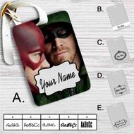 Arrow The Flash Custom Leather Luggage Tag