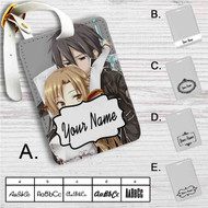Asuna x Kirito Sword Art Online Custom Leather Luggage Tag