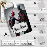 Batman and Deadpool Custom Leather Luggage Tag