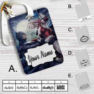 Batman Harley Quinn Custom Leather Luggage Tag
