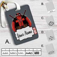 Baymax Deadpool Custom Leather Luggage Tag