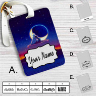 Classic Aladdin and Jasmine Custom Leather Luggage Tag