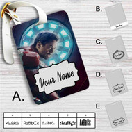 Tony Stark Iron Man Marvel Custom Leather Luggage Tag