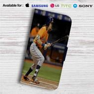 Colby Rasmus Houston Astros Custom Leather Wallet iPhone 4/4S 5S/C 6/6S Plus 7  Samsung Galaxy S4 S5 S6 S7 Note 3 4 5  LG G2 G3 G4  Motorola Moto X X2 Nexus 6  Sony Z3 Z4 Mini  HTC ONE X M7 M8 M9 Case