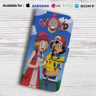Pokemon Ash Pikachu Custom Leather Wallet iPhone 4/4S 5S/C 6/6S Plus 7| Samsung Galaxy S4 S5 S6 S7 Note 3 4 5| LG G2 G3 G4| Motorola Moto X X2 Nexus 6| Sony Z3 Z4 Mini| HTC ONE X M7 M8 M9 Case