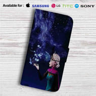Princess Elsa Disney Frozen Custom Leather Wallet iPhone 4/4S 5S/C 6/6S Plus 7| Samsung Galaxy S4 S5 S6 S7 Note 3 4 5| LG G2 G3 G4| Motorola Moto X X2 Nexus 6| Sony Z3 Z4 Mini| HTC ONE X M7 M8 M9 Case