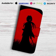 Red Moon Samurai X Rurouni Kenshin Custom Leather Wallet iPhone 4/4S 5S/C 6/6S Plus 7| Samsung Galaxy S4 S5 S6 S7 Note 3 4 5| LG G2 G3 G4| Motorola Moto X X2 Nexus 6| Sony Z3 Z4 Mini| HTC ONE X M7 M8 M9 Case