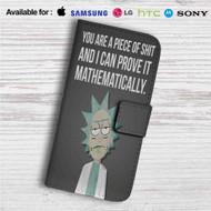 Rick and Morty Quotes Custom Leather Wallet iPhone 4/4S 5S/C 6/6S Plus 7| Samsung Galaxy S4 S5 S6 S7 Note 3 4 5| LG G2 G3 G4| Motorola Moto X X2 Nexus 6| Sony Z3 Z4 Mini| HTC ONE X M7 M8 M9 Case