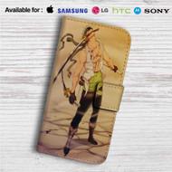 Roronoa Zoro One Piece Custom Leather Wallet iPhone 4/4S 5S/C 6/6S Plus 7| Samsung Galaxy S4 S5 S6 S7 Note 3 4 5| LG G2 G3 G4| Motorola Moto X X2 Nexus 6| Sony Z3 Z4 Mini| HTC ONE X M7 M8 M9 Case