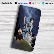 Steins Gate Okabe Rintarou & Shiina Mayuri Custom Leather Wallet iPhone 4/4S 5S/C 6/6S Plus 7| Samsung Galaxy S4 S5 S6 S7 Note 3 4 5| LG G2 G3 G4| Motorola Moto X X2 Nexus 6| Sony Z3 Z4 Mini| HTC ONE X M7 M8 M9 Case