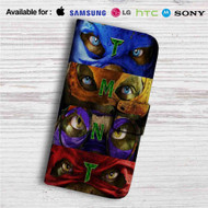 Teenage Mutant Ninja Turtles TMNT Custom Leather Wallet iPhone 4/4S 5S/C 6/6S Plus 7| Samsung Galaxy S4 S5 S6 S7 Note 3 4 5| LG G2 G3 G4| Motorola Moto X X2 Nexus 6| Sony Z3 Z4 Mini| HTC ONE X M7 M8 M9 Case