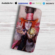 Alice Through the Looking Glass Custom Leather Wallet iPhone 4/4S 5S/C 6/6S Plus 7| Samsung Galaxy S4 S5 S6 S7 Note 3 4 5| LG G2 G3 G4| Motorola Moto X X2 Nexus 6| Sony Z3 Z4 Mini| HTC ONE X M7 M8 M9 Case
