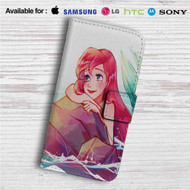 Ariel Disney The Little Mermaid Custom Leather Wallet iPhone 4/4S 5S/C 6/6S Plus 7| Samsung Galaxy S4 S5 S6 S7 Note 3 4 5| LG G2 G3 G4| Motorola Moto X X2 Nexus 6| Sony Z3 Z4 Mini| HTC ONE X M7 M8 M9 Case