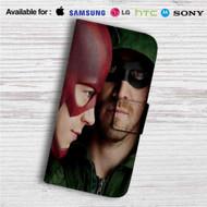 Arrow The Flash Custom Leather Wallet iPhone 4/4S 5S/C 6/6S Plus 7| Samsung Galaxy S4 S5 S6 S7 Note 3 4 5| LG G2 G3 G4| Motorola Moto X X2 Nexus 6| Sony Z3 Z4 Mini| HTC ONE X M7 M8 M9 Case