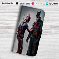 Batman and Deadpool Custom Leather Wallet iPhone 4/4S 5S/C 6/6S Plus 7| Samsung Galaxy S4 S5 S6 S7 Note 3 4 5| LG G2 G3 G4| Motorola Moto X X2 Nexus 6| Sony Z3 Z4 Mini| HTC ONE X M7 M8 M9 Case