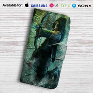 Green Arrow Custom Leather Wallet iPhone 4/4S 5S/C 6/6S Plus 7| Samsung Galaxy S4 S5 S6 S7 Note 3 4 5| LG G2 G3 G4| Motorola Moto X X2 Nexus 6| Sony Z3 Z4 Mini| HTC ONE X M7 M8 M9 Case