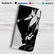 Iron Man Head Custom Leather Wallet iPhone 4/4S 5S/C 6/6S Plus 7| Samsung Galaxy S4 S5 S6 S7 Note 3 4 5| LG G2 G3 G4| Motorola Moto X X2 Nexus 6| Sony Z3 Z4 Mini| HTC ONE X M7 M8 M9 Case