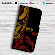 Iron Man Marvel Custom Leather Wallet iPhone 4/4S 5S/C 6/6S Plus 7| Samsung Galaxy S4 S5 S6 S7 Note 3 4 5| LG G2 G3 G4| Motorola Moto X X2 Nexus 6| Sony Z3 Z4 Mini| HTC ONE X M7 M8 M9 Case