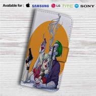 Joker Harley Quinn Custom Leather Wallet iPhone 4/4S 5S/C 6/6S Plus 7| Samsung Galaxy S4 S5 S6 S7 Note 3 4 5| LG G2 G3 G4| Motorola Moto X X2 Nexus 6| Sony Z3 Z4 Mini| HTC ONE X M7 M8 M9 Case